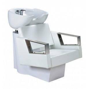 Измивна колона с бяла керамична фризьорска мивка
