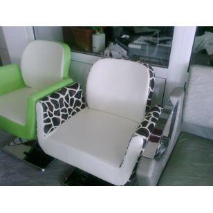 Широк фризьорски стол с хидравлично повдигане