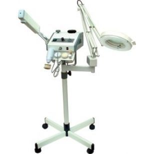 Комбиниран уред пароозонатор, лампа лупа и четков пилинг