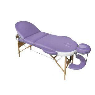 Дървена овална масажна кушетка